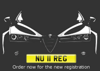 Brand New Registration Plates