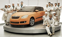 Skoda have increased sales in the first half of 2010
